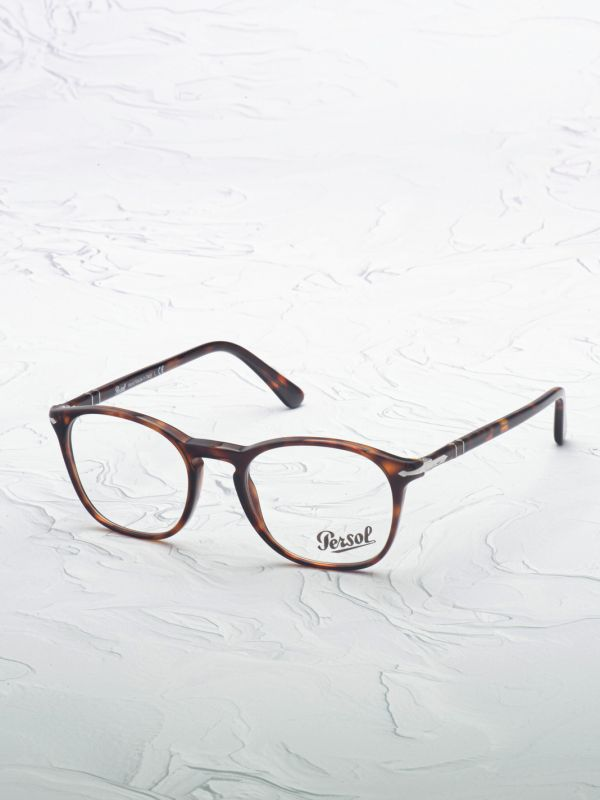 Lunette de vue Persol 3007 marron inclinée