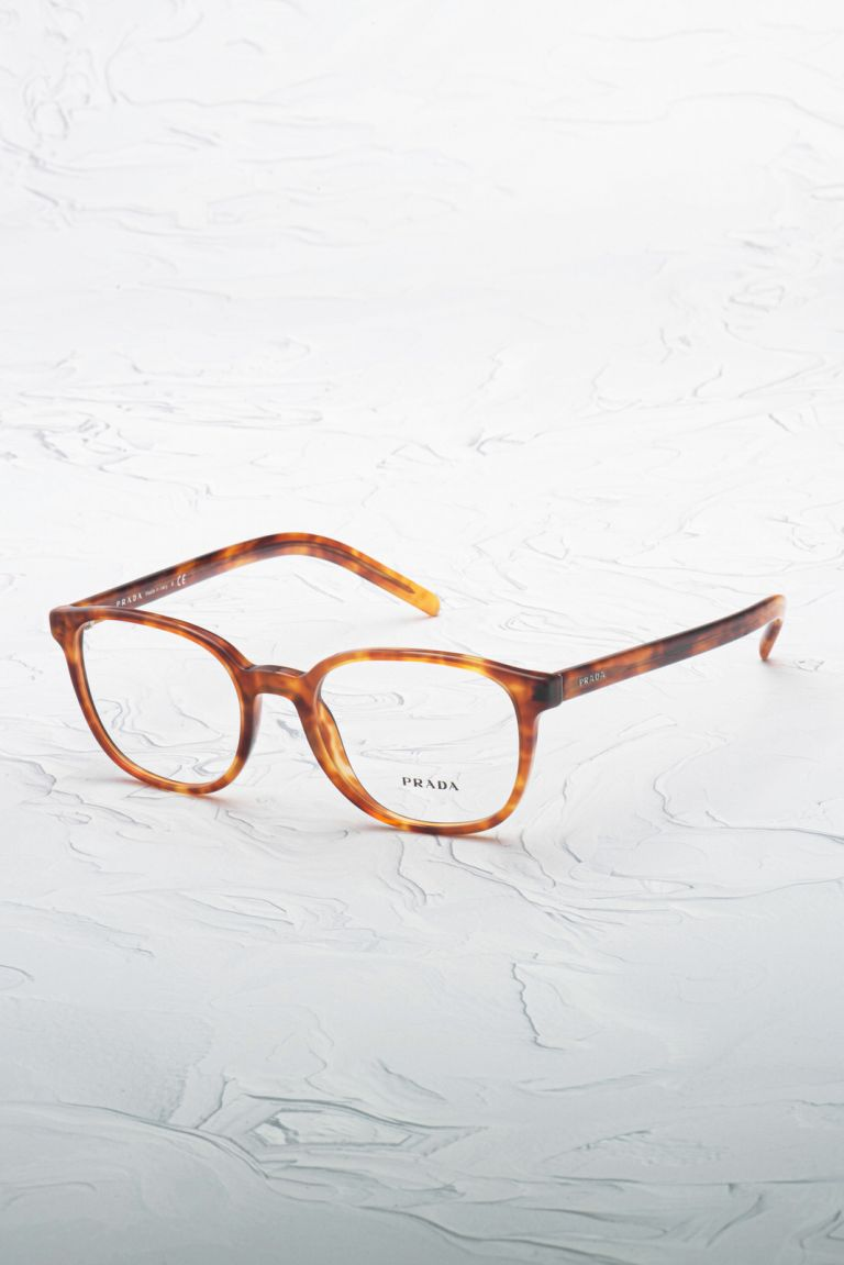 Lunette de vue Prada 07XV marron inclinée