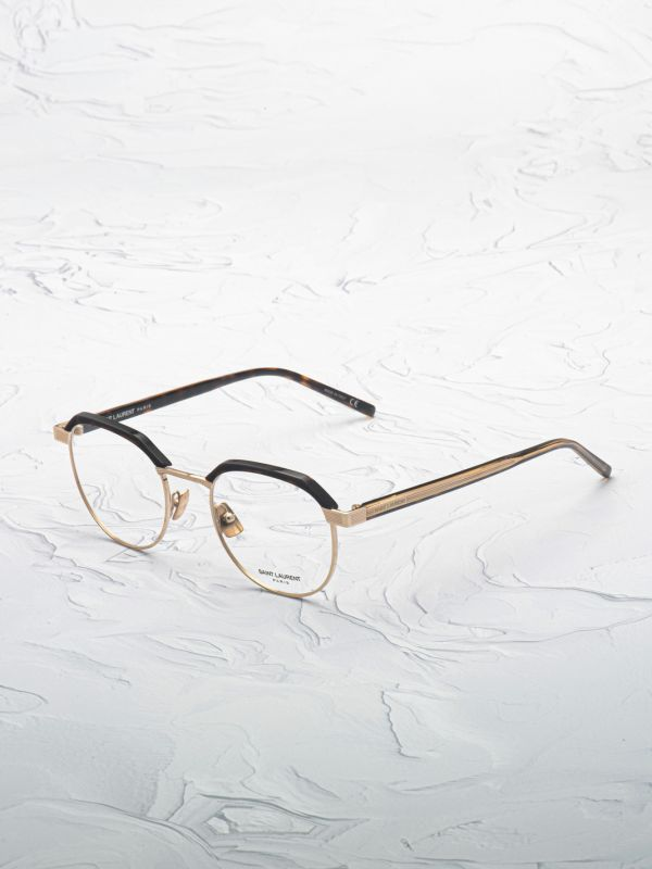 Lunette de vue Saint Laurent 124 or inclinée