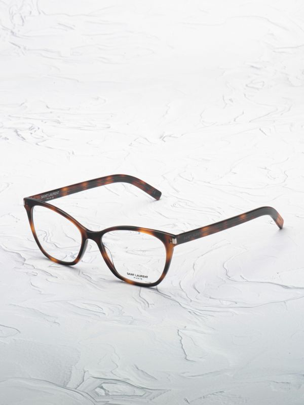 Lunette de vue Saint Laurent 287 marron inclinée