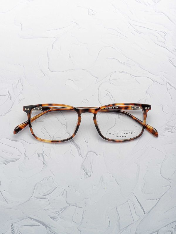 Paire de lunettes Matt Keaton 4019 rectangle couleur écaille face