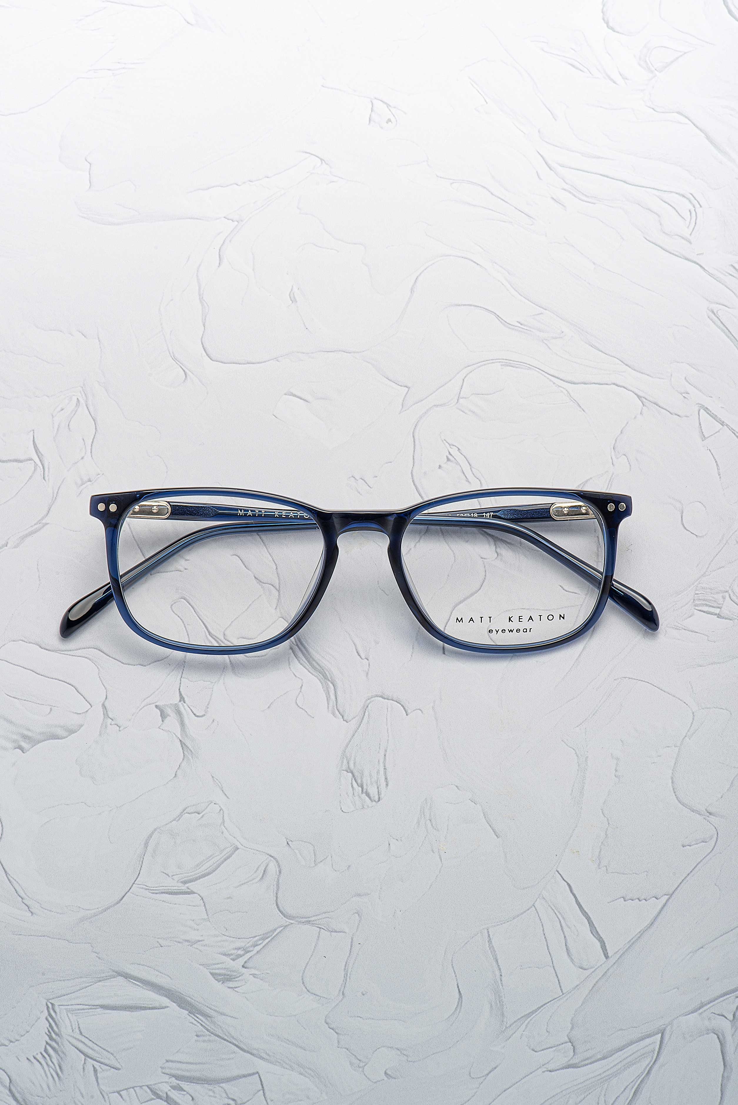 Paire de lunettes Matt Keaton 4020 rectangle couleur bleu face